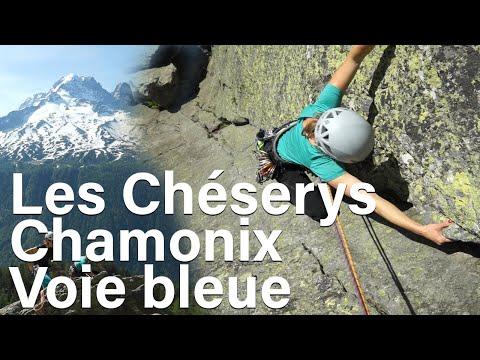 La Voie Bleue Les Chéserys Aiguilles Rouges Chamonix Mont-Blanc escalade montagne alpinisme