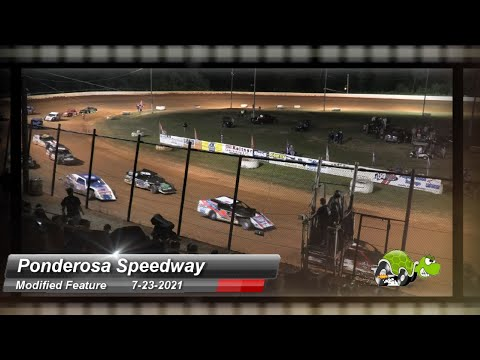 Ponderosa Speedway - Modified Feature - 7/23/2021 - dirt track racing video image