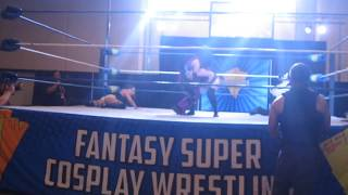 La Diamante, Leva Bates, Rocky Radley, Flex Magnum at FSCW at Florida Supercon Miami 2019