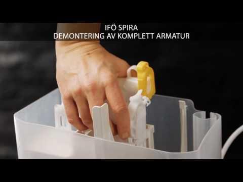 Demontering av komplett armatur - Ifö Spira toalett