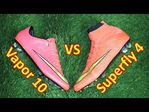 Nike Mercurial Superfly 4 VS Mercurial Vapor 10 - Comparison + Review - UCUU3lMXc6iDrQw4eZen8COQ
