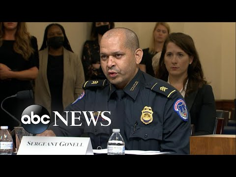 US Capitol Police Sergeant Gonell recalls the events of Jan. 6