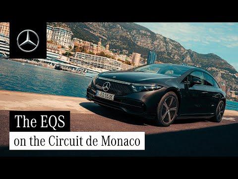 The EQS on the Circuit de Monaco