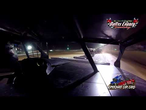 #96X Jeff Hooper - B Mod- 8-27-2021 Dallas County Speedway - In Car Camera - dirt track racing video image