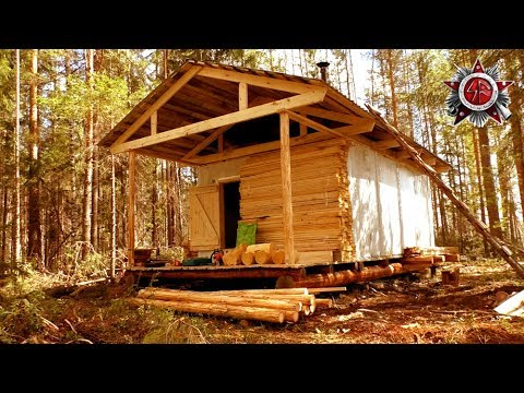 Wilderness Cabin Build 2019Made From An Industrial Freezer