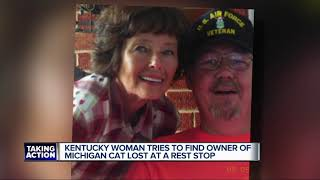 SEARCH FOR OWNER: Lost cat found in Kentucky believed to belong to Michigan woman
