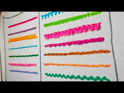 How to embroider a Roll chain stitch & Shell chain stitch