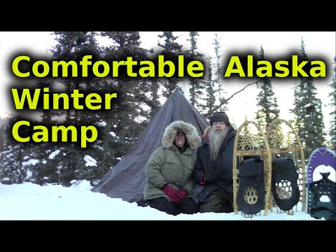 Hot Tenting In Alaska Winter Using Homemade Tent And Stove