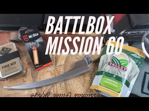 Battlbox Mission 60: Throwing Knives, Fillet Knife, Battery Backup, and More