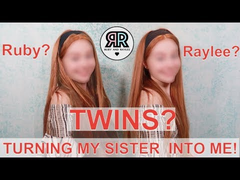 Transforming My Sister Into Me Challenge! | Turning My 10 Year Old Sister Into Me | RUBY AND RAYLEE