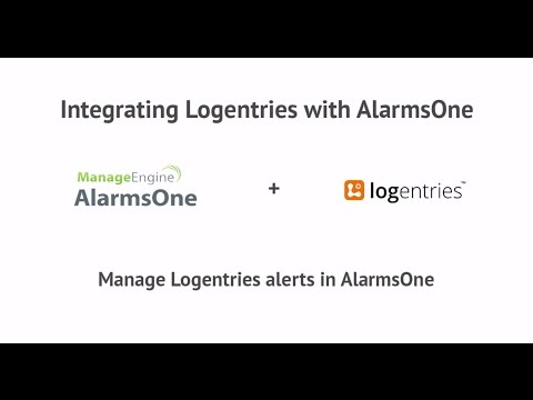 ManageEngine AlarmsOne and Logentries Integration : IT Alert Management Made Easy.