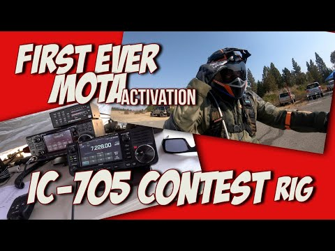 10 Watts & No Tuner? - IC-705 rocks it in a contest and first ever MOTA