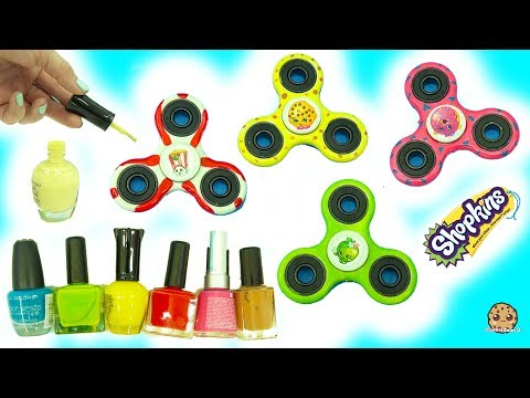 DIY Nail Polish Painted Shopkins Inspired Fidget Spinners - Do It Yourself Craft Video - UCelMeixAOTs2OQAAi9wU8-g