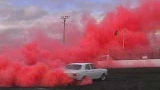 Red Smoke Burnout - kumho XW Falcon