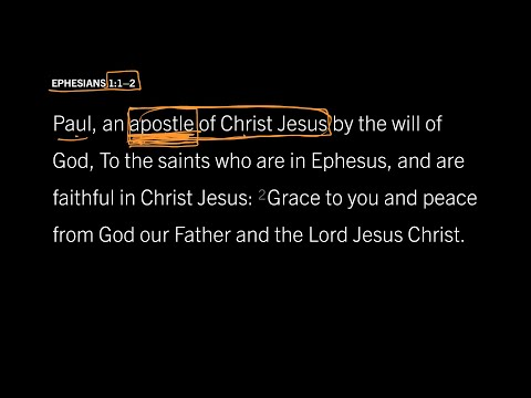 Ephesians 1:12 // Part 2 // What Does It Mean to Be an Apostle?