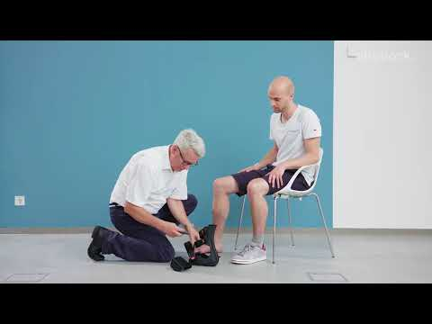 Application of 28F10 Heel Relief Orthosis (HRO) by CPO Münch