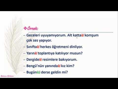 تعلم اللغة التركية (الدرس 19 من المستوى الأول A1) (اللاحقة Ki)