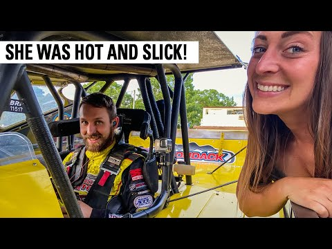 Three Wide Action At Albany Saratoga Speedway - dirt track racing video image