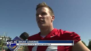 Brian Lewerke, Joe Bachie back as Michigan State captains