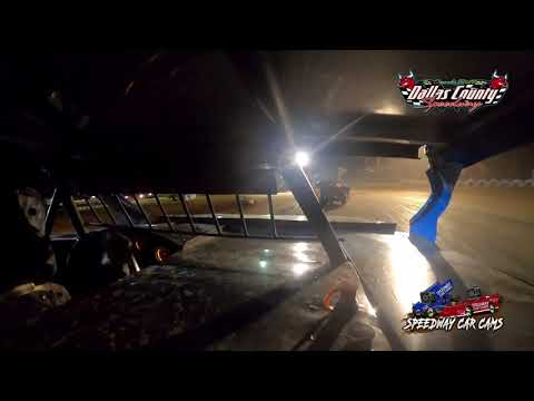#98 Garet Jones - Midwest Mod - 8-20-2021 Dallas County Speedway - In Car Camera - dirt track racing video image