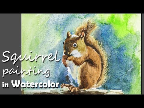 How to Paint A Squirrel in Watercolor