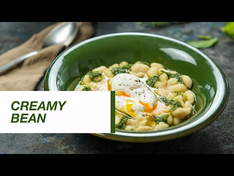 Creamy Bean with Green Sauce and Poached eggs   Food Channel L Recipes
