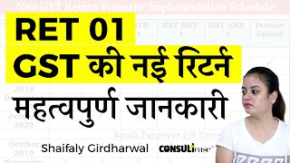 New return of GST - RET 01, Important things you should know - by Shaifaly Girdharwal