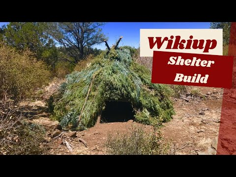 Wikiup Shelter Build, Picture Slide Show