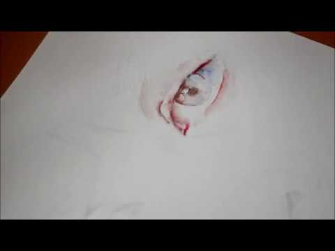 (FINALLY!) Watercolor Eye Painting in Real-Time