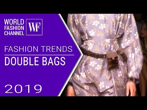 Double bags | Fashion trends spring-summer 2019