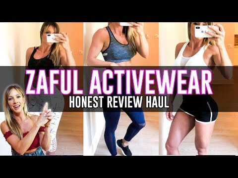 ZAFUL ACTIVEWEAR HAUL - HONEST REVIEW WITH PAIGE HATHAWAY