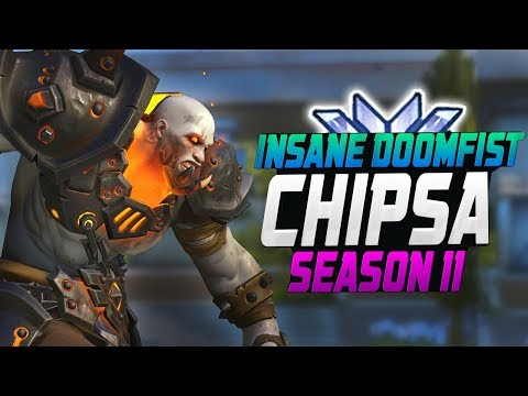INSANE CARRY DOOMFIST - Chipsa! [ OVERWATCH SEASON 11 TOP 500 ]
