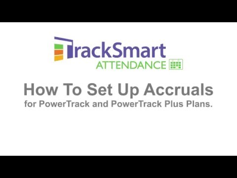 Quick Tour Video: How to Setup Accruals