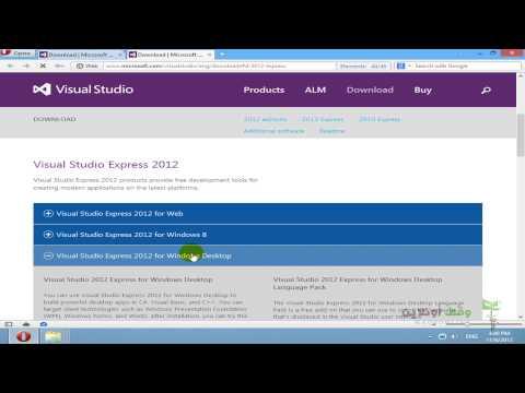 VB 2012- 6- تحميل برنامج Visual Studio 2012