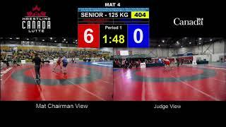 404 Senior 125kg FS Round 1 Korey JARVIS Guelph Wrestling Club vs Cody SOUTER Prince Albert Wrestlin