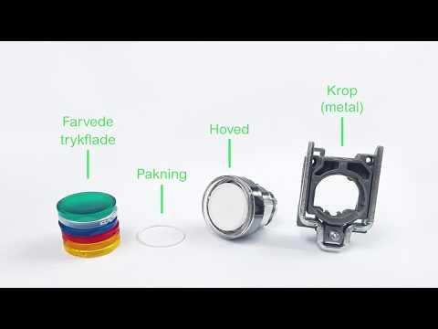 Hvordan monterer du et Harmony XB4 lampetryk med løse linser?