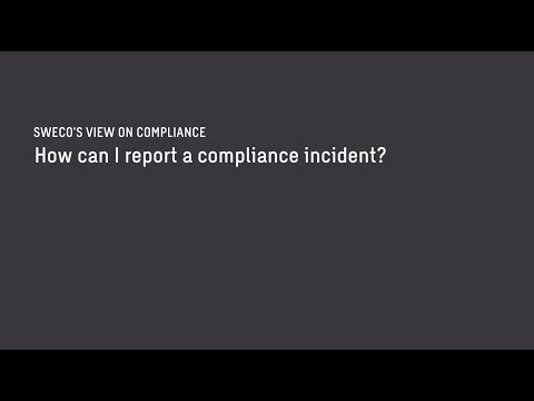 How can I report a compliance incident?