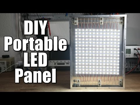DIY Portable LED Panel (Part 1) - the mechanical build