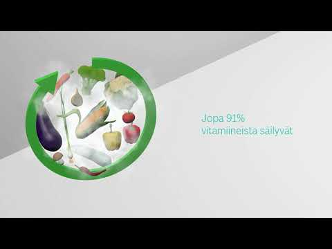 Bosch-höyryuunit: terveellistä ruokaa, joka säilyttää vitamiinit