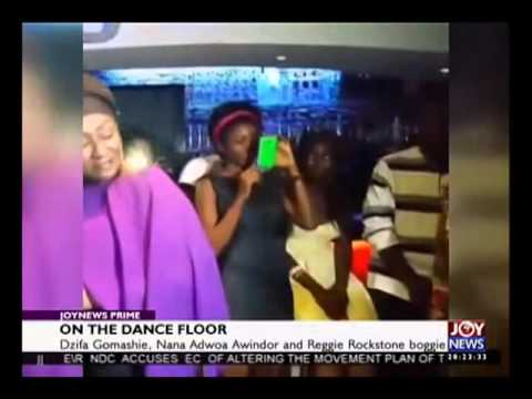 Minister Dzifa Gomashie on the Dance Floor with Reggie Rockstone and Nana Adwoa Awindor