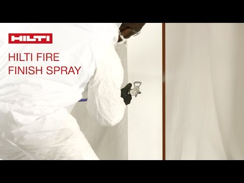 INTRODUCING Hilti Fire Finish Intumescent Steel Protection Spray