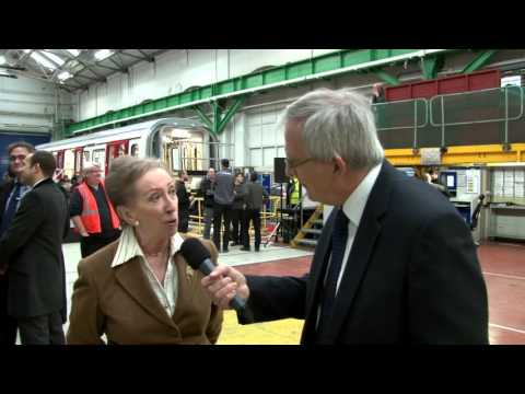 Final S Stock vehicle for London Underground – Interview with Margaret Beckett
