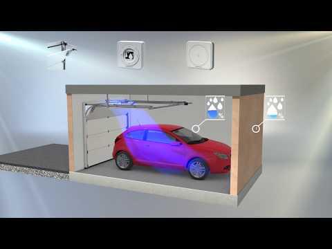 Tillbehör: Fuktsensor till garaget - utvändig och invändig sensor