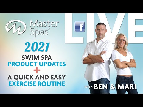 2021 Swim Spa News + Quick and Easy Water Exercise Routine