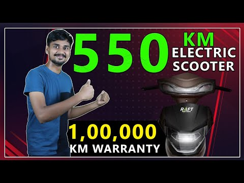 550 km Range Electric Scooter Launching in India - Raft Indus NX