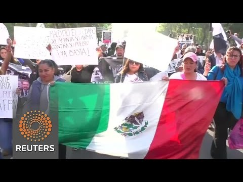 Mexicans protest their president's gas price hikes
