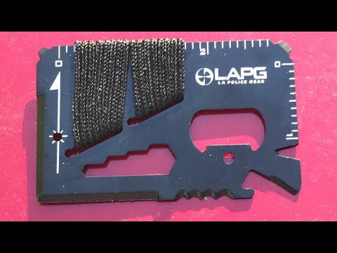 SHARE YOUR THOUGHTS: Wallet Cards - Useful?  Silly?  LA Police Gear Covert Multitool