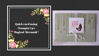 Magical Mermaid Card!!!