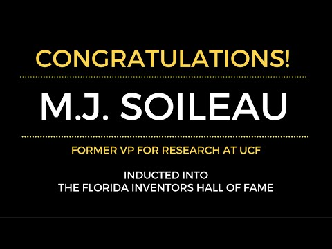 Former VP for Research, M.J. Soileau, inducted into Florida Inventors Hall of Fame