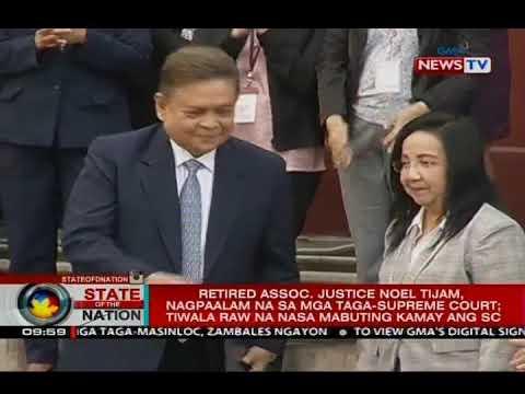 Retired Assoc. Justice Noel Tijam, nagpaalam na sa mga taga-SC; tiwala na nasa mabuting kamay ang SC